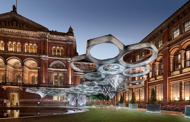 Elytra Filament Pavilion, Victoria and Albert Museum, London, © NAARO, 2016